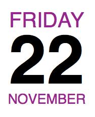 Calendar22NOVFriday