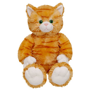 WeeGee is a cuddly cat from Build-a-Bear Workshop just like this one.