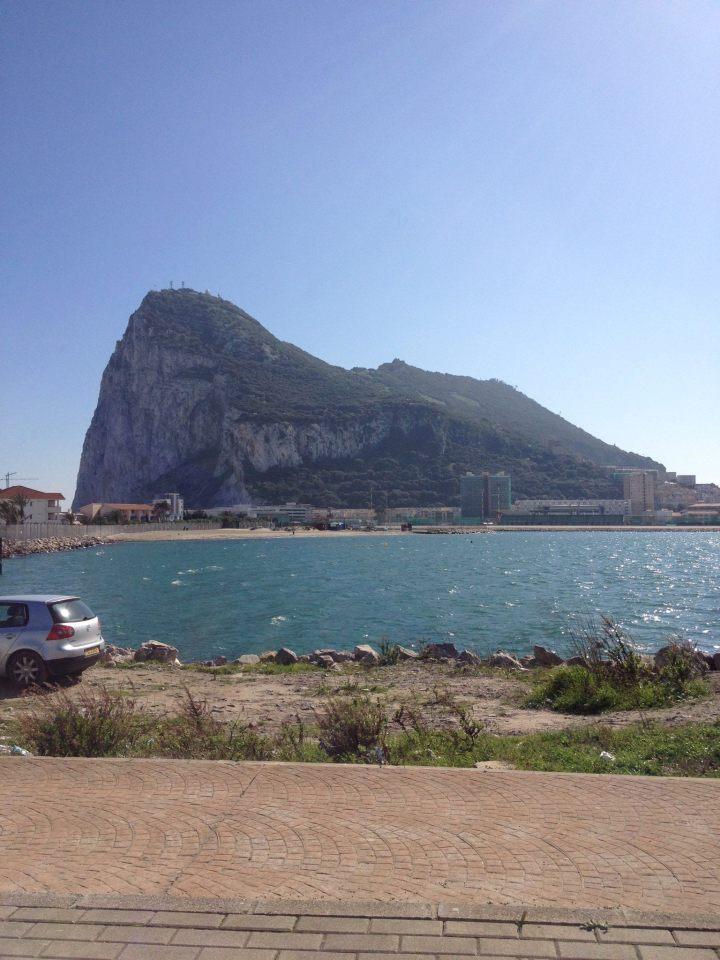The Rock of Gibraltar from La Línea de la Concepción. Picture: © 2014 Andrew McFarland Campbell