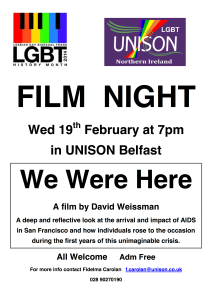LGBT History Month Film Night Feb2014