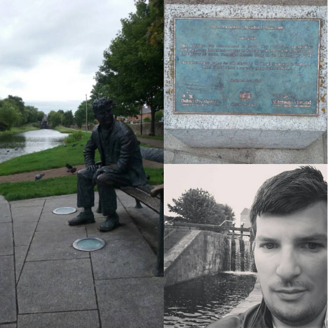On the Royal Canal Way near Drumcondra you can find Brendan Behan. Photos: MJPB Carchrie Campbell 2015