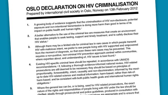 HIV criminalisation? More harm thangood.