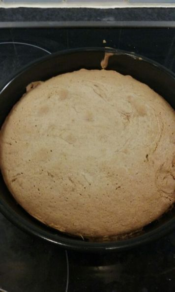 the baked cake