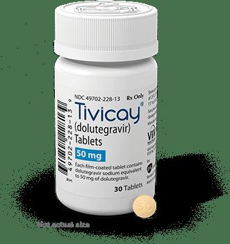 a bottle of Tivicay (Dolutegravir)