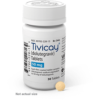 a bottle of Tivicay (Dolutegravir)